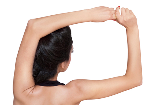 Skin plastic surgery and shoulder area liposuction